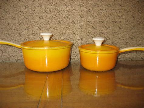vintage cookware  piece set belgium descoware mark  flickr