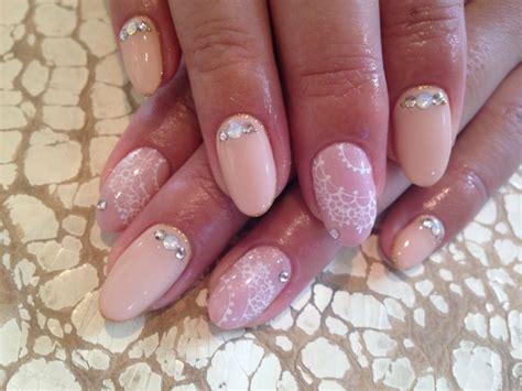 pink beige nail  lace design nail pinterest pink