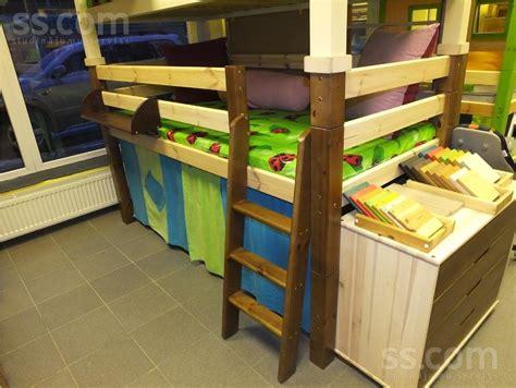 SS.LV Детская мебель - Кроватки, Цена 213 €. Lieliska priedes pusaugstā gulta gaišā iespējams ...