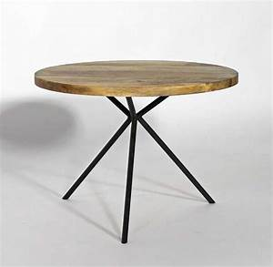 Made Table Basse : table basse ronde en manguier ~ Melissatoandfro.com Idées de Décoration