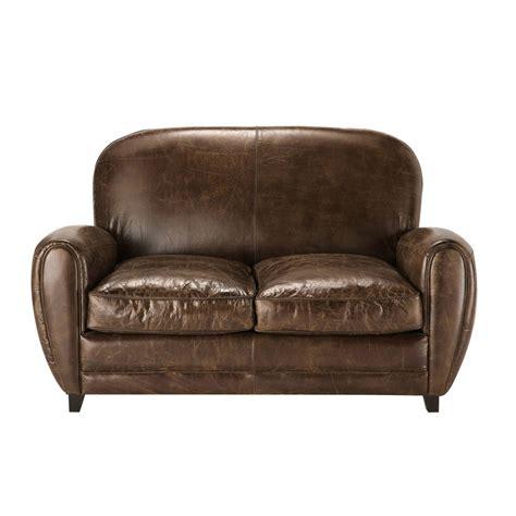 divano cuoio divano vintage marrone in cuoio 2 posti oxford maisons