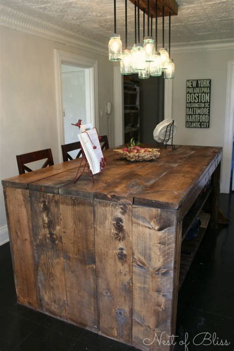 kitchen island made from reclaimed wood 20 diy faux barn wood finishes for any type of wood