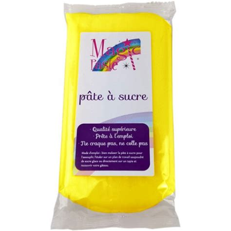 pate a sucre jaune p 226 te 224 sucre magic paste jaune 250g