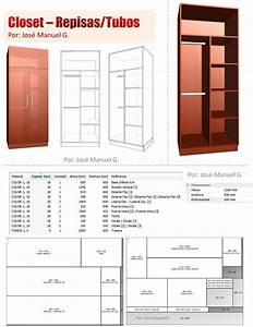 Diseño De Muebles Madera: Diseño 3D Closet Como Hacer Un Closet Lista de Piezas Planos