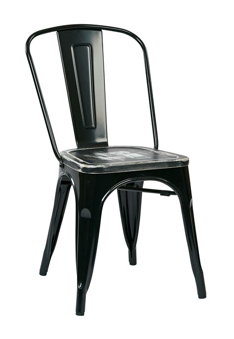 osp designs bristow metal chair with vintage wood seat