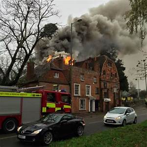 First Picture Of Fire At Antiques Centre