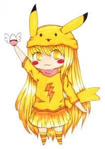 Chibi Pikachu Girl Anime
