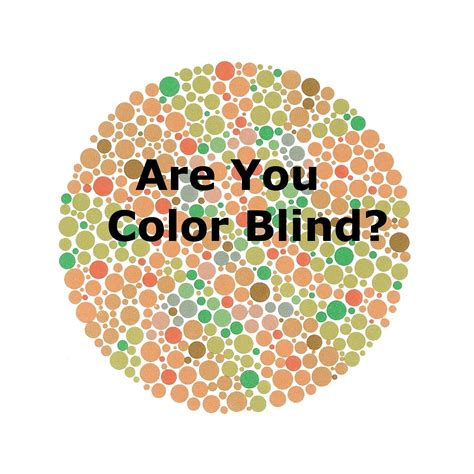 can a be color blind are you color blind