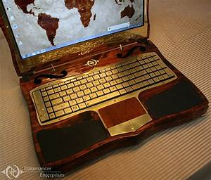 Datamancer Steampunk Laptop 2 0: A Gamer's Laptop in Shelf