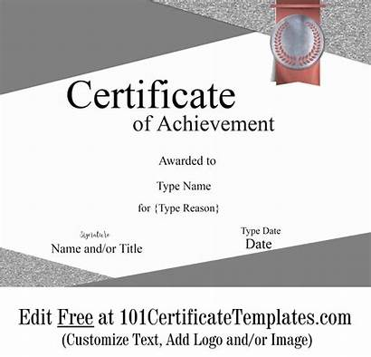 Certificate Achievement Customize Award Templates Printable Template