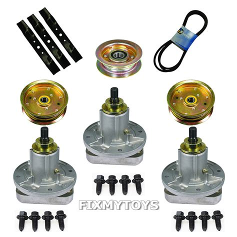 jd08 48 inch mower deck blade and spindle kit replaces lawn mower deck rebuild kit blade spindle belt idler 48 quot deck deere l120 l130 mowers