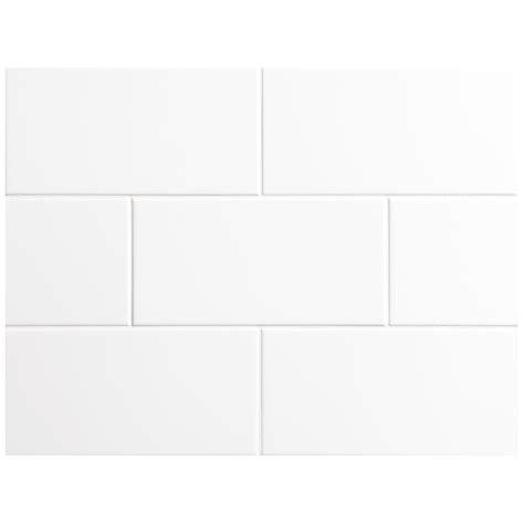 nori ceramic collection tile white gloss 4 quot x 8 quot