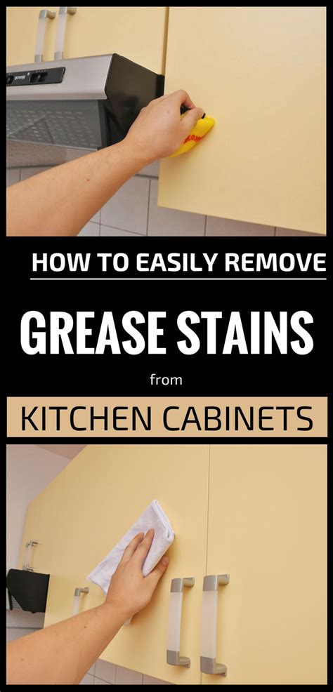 easily remove grease stains  kitchen cabinets