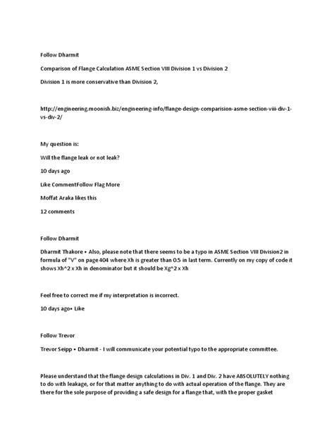 Comparison Flange | Leak