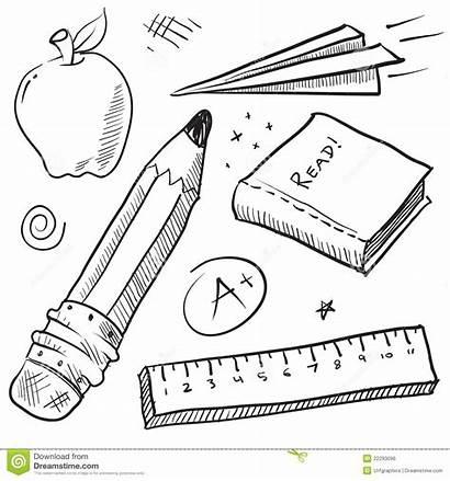 Objects Classroom Coloring Illustrazione Illustratie Template Abbildung