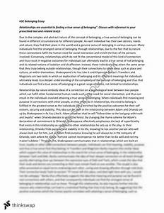 Sample Essays High School Belonging Essay Questions And Skills Example Of An Essay With A Thesis Statement also My Mother Essay In English Belonging Essay Questions Eassy On Internet Belonging Essay  Argument Essay Thesis