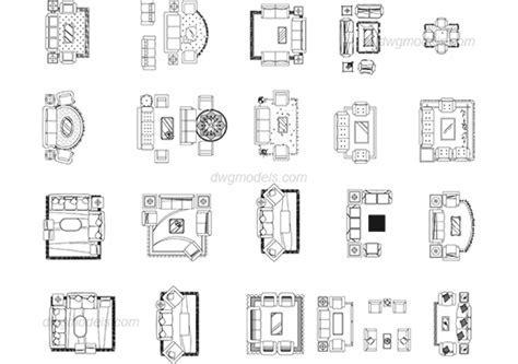Living room DWG, free CAD Blocks download