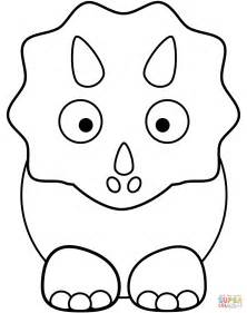 Triceratops Kleurplaat by Triceratop Coloring Page Free Printable Coloring