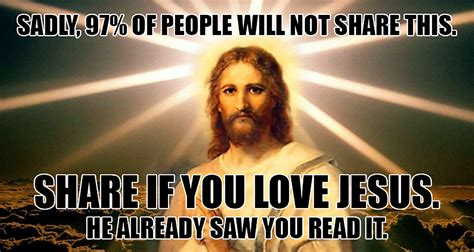 Jesus Memes - stone hearted man scrolls right past jesus meme without sharing it