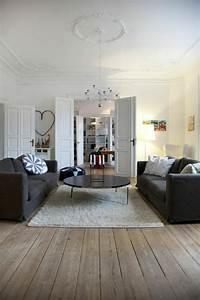 le parquet massif ideal pour votre interieur commode With tapis de sol avec canapé salon complet