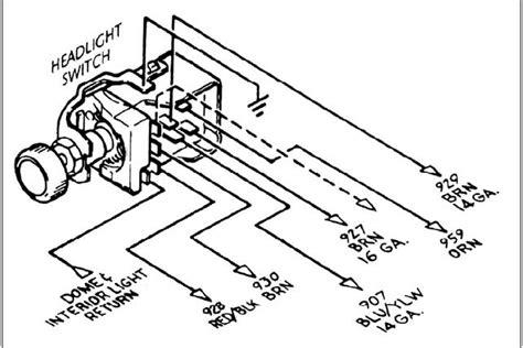 Headlight Switch Diagram The Present Chevrolet