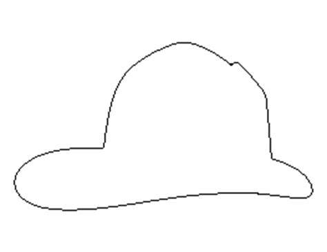 fireman hat template free shape and object patterns for crafts stencils and more page 10