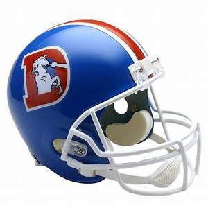 Denver Broncos 1975 1996 Throwback Riddell Full Size