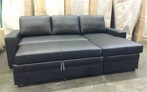Leather sofa bed sectional 25 leather sectional sofa for Sectional sofa with bed and recliner