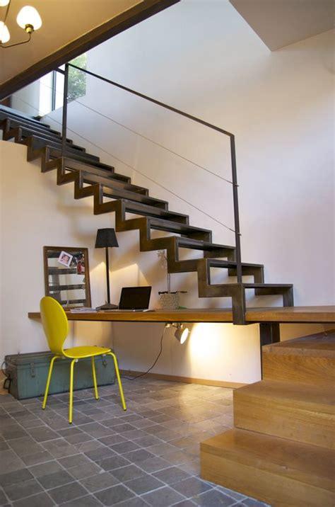escalier 224 cr 233 maill 232 re m 233 tal et bois avec bureau int 233 gr 233 d 233 corations