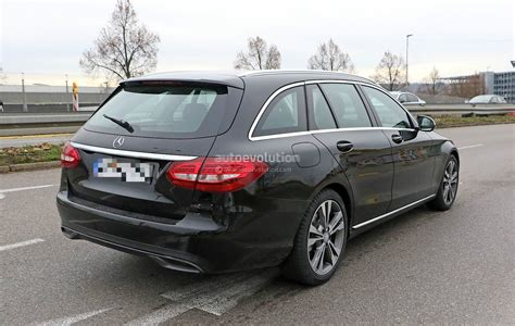 first mercedes 2018 mercedes benz c class facelift shows interior for the