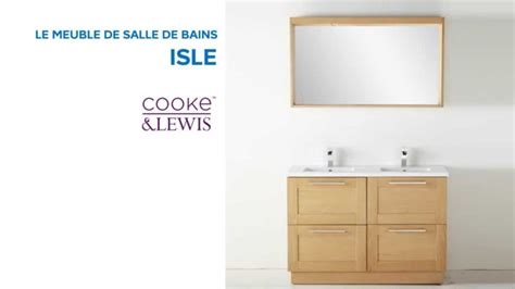 meuble de salle de bains isle cooke lewis 667471 castorama