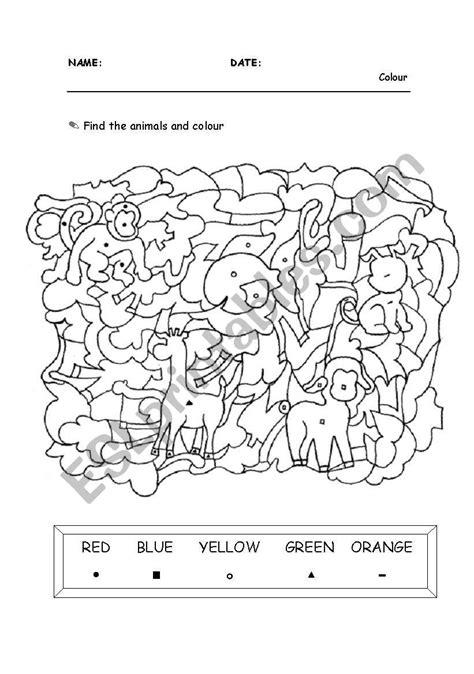 Find The Animals  Esl Worksheet By Mari Cruz