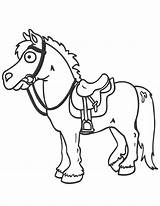 Horse Cartoon Coloring Pages Saddle Easy Printable Drawing Horses Cartoons Clipart Cliparts Cute Drawings Print Library Clip Colouring Saddles Animal sketch template