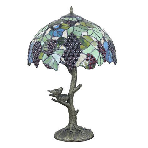 european retro style table lamp trunk  birds