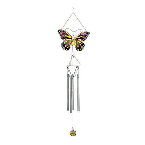 butterfly wind chimes flat glass butterfly wind chime