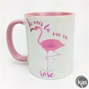 Mug Flamant Rose : tasse flamant rose humoristique je vois la vie en flamant rose sur logeekdesign ~ Teatrodelosmanantiales.com Idées de Décoration