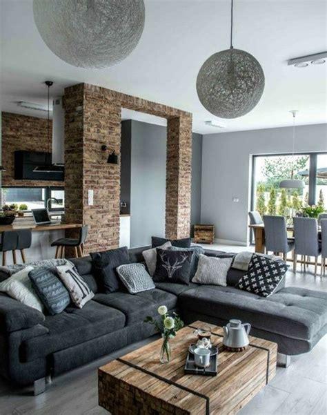 deco salon avec canape gris déco salon formidable studio avec un salon gris et blanc