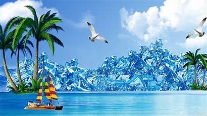 Summer Desktop Berg Ice Cool