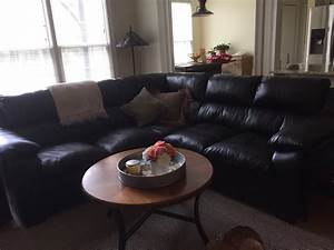 brown leather five seat sectional sofa for sale 250 obo With sectional sofa 250