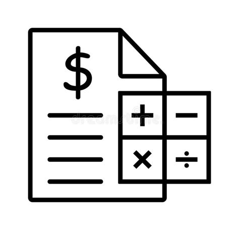 Calculator With Dollar Sign Stock Illustration ...