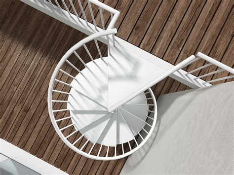 Staircase Method by Metal Spiral Staircase Type Quot Firenze Quot 1200mm White L00l
