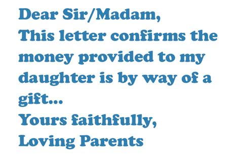 gifted deposit letter  sam conveyancing