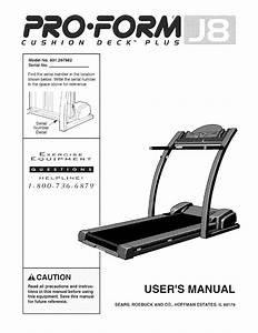 Proform 831297982 User Manual J8 Manuals And Guides L0803291