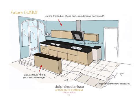 croquis cuisine rénovation d 39 une salle à manger et cuisine travaux en