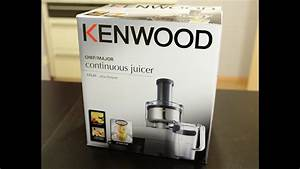 Kenwood Cooking Chef Entsafter At641 - Unboxing