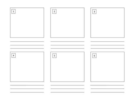 Storyboard Template (6 Boxes) By L_e1984