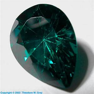 Fake Emerald  A Sample Of The Element Zirconium In The