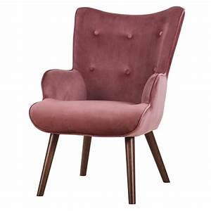 Fauteuil En Velours : fauteuil baloo en velours rose d couvrez les fauteuils baloo en velours roses design rdv d co ~ Dode.kayakingforconservation.com Idées de Décoration