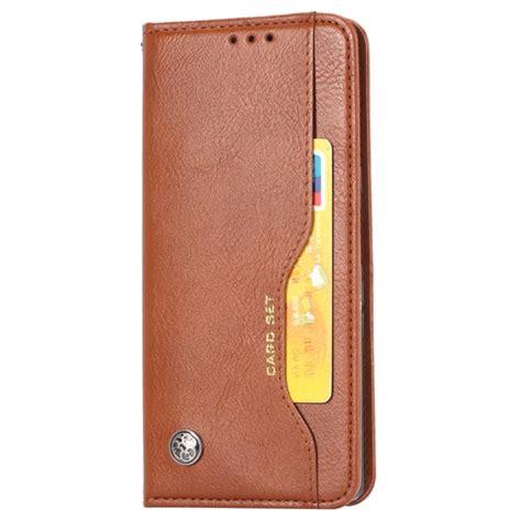 card set series google pixel  xl wallet case brown