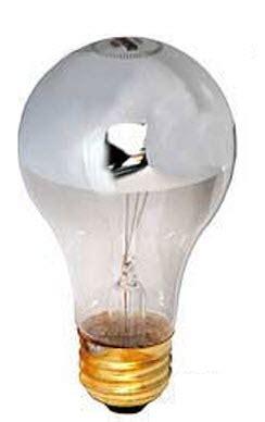 half chrome light bulbs half chrome incandescent light